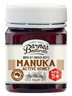 Barnes Naturals Manuka Active Honey NPA5+ 250g