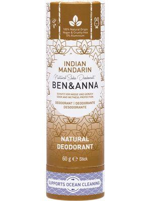 BEN & ANNA Natural Soda Deodorant Stick Indian Mandarin 60g