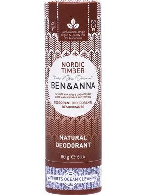 BEN & ANNA Natural Soda Deodorant Stick Nordic Timber 60g