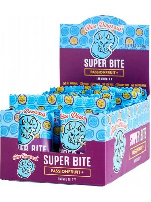 BLUE DINOSAUR Super Bite Passionfruit - Box Of 18 18x30g