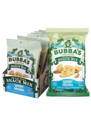 BUBBA'S FINE FOODS Grain Free Snack Mix Savory Original 8x34g
