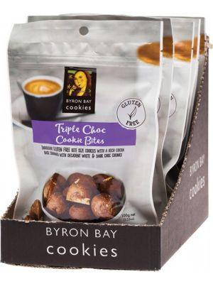 BYRON BAY COOKIES Gluten Free Cookie Bites Triple Choc Fudge 6x100g
