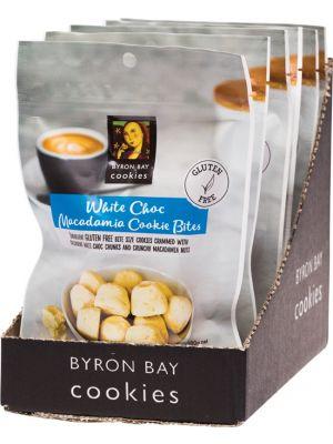 BYRON BAY COOKIES Gluten Free Cookie Bites White Choc Macadamia 6x100g