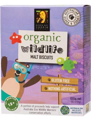 BYRON BAY COOKIES Organic Wildlife Biscuits Malt 100g