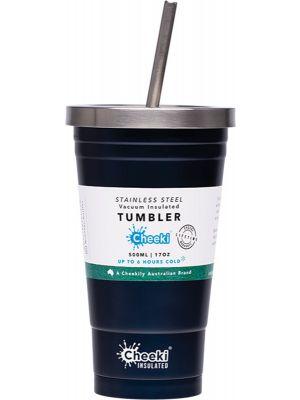 CHEEKI Insulated Tumbler Ocean - With S/Steel Straw 500ml