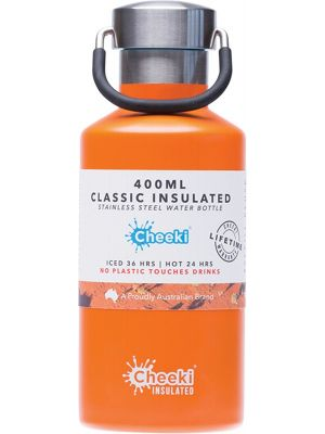 CHEEKI Stainless Steel Bottle Insulated - Orange 400ml