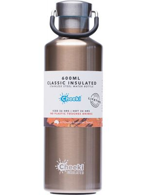 CHEEKI Stainless Steel Bottle Insulated - Champagne 600ml