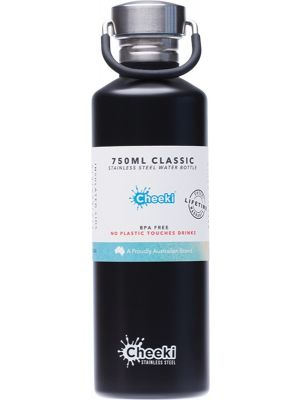 CHEEKI Stainless Steel Bottle Matte Black 750ml