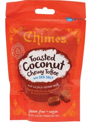 CHIMES Chewy Candy Toasted Coconut Toffee 80g