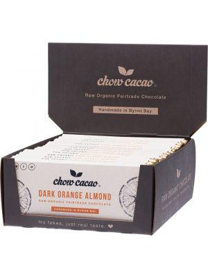 CHOW CACAO Raw Organic Chocolate Dark Orange Almond 15x40g