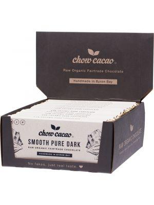 CHOW CACAO Raw Organic Chocolate Smooth Pure Dark 15x40g