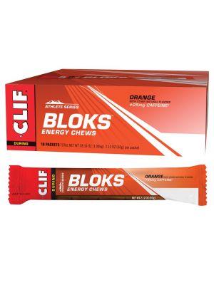CLIF Bloks Energy Chews Orange (25mg Caffeine) 18x60g