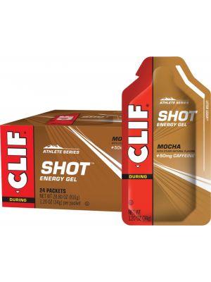 CLIF Shot Energy Gel Mocha (50mg Caffeine) 24x34g