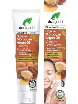 DR ORGANIC Creamy Face Wash Organic Moroccan Argan Oil 150ml