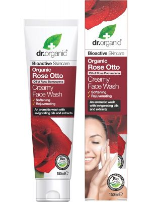 DR ORGANIC Creamy Face Wash Organic Rose Otto 150ml