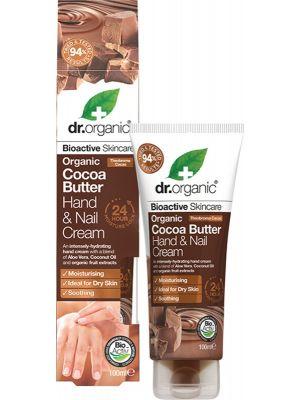 DR ORGANIC Hand & Nail Cream Organic Cocoa Butter 100ml