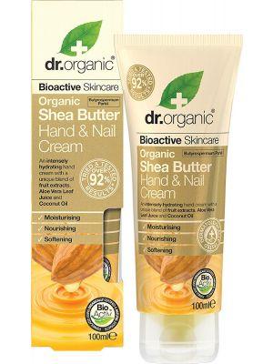 DR ORGANIC Hand & Nail Cream Organic Shea Butter 100ml