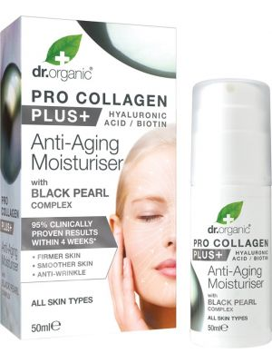 DR ORGANIC Pro Collagen Plus+ - Anti Aging Moisturiser With Black Pearl 50ml