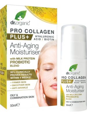 DR ORGANIC Pro Collagen Plus+ - Anti Aging Moisturiser With Probiotic 50ml