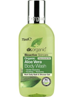 DR ORGANIC Travel Size - Body Wash Organic Aloe Vera 75ml