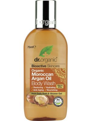 DR ORGANIC Travel Size - Body Wash Organic Moroccan Argan Oil 75ml