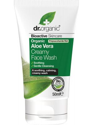 DR ORGANIC Travel Size - Creamy Face Wash Organic Aloe Vera 50ml