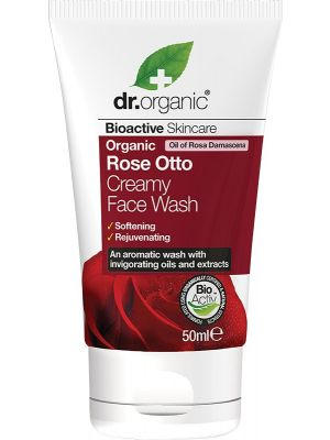 DR ORGANIC Travel Size - Creamy Face Wash Organic Rose Otto 50ml