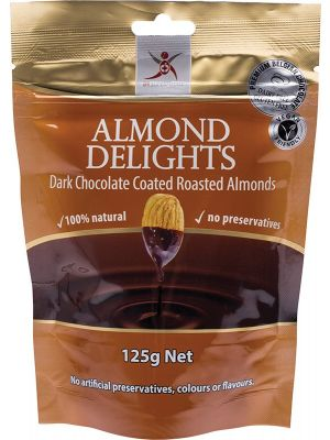 DR SUPERFOODS Dark Choc Almonds 125g