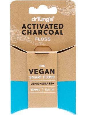 DR TUNG'S Smart Vegan Dental Floss Activated Charcoal & Lemongrass 27m
