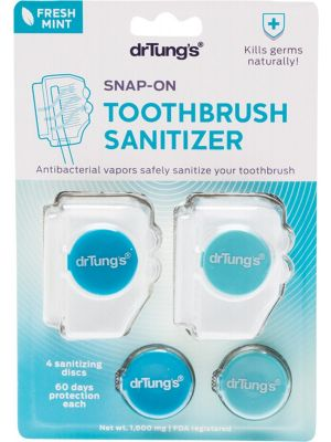 DR TUNG'S Toothbrush Sanitizer Includes 2 Refills