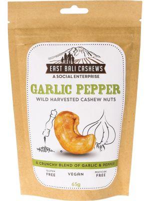 EAST BALI CASHEWS Garlic Pepper Cashew Nuts 75g
