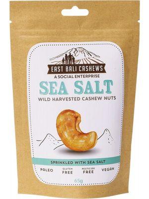 EAST BALI CASHEWS Sea Salt Cashew Nuts 75g