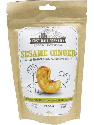 EAST BALI CASHEWS Sesame Ginger 75g