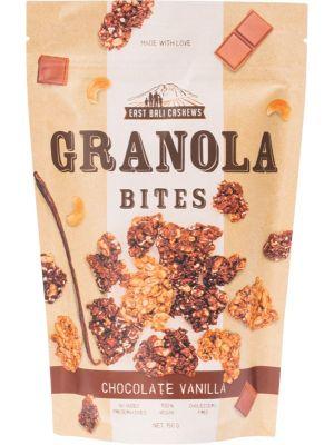 EAST BALI CASHEWS Granola Bites Chocolate Vanilla 150g