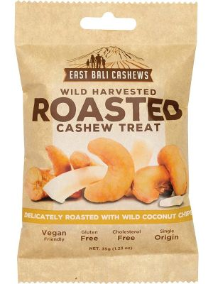 EAST BALI CASHEWS Roasted Cashew Treat Wild Harvested 10x35g