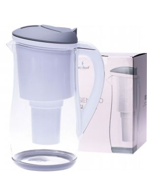ECOBUD Gentoo Glass Water Filter Jug Grey & White 1.5L