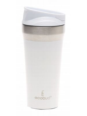 ECOBUD Vacuum Insulated Mug - White 400ml