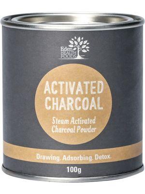 EDEN HEALTHFOODS Steam Activated Charcoal Powder 100g