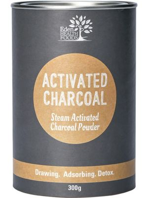 EDEN HEALTHFOODS Steam Activated Charcoal Powder 300g