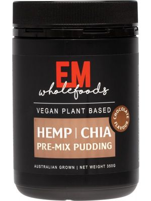 EM WHOLEFOODS Hemp Chia Pudding Pre-Mix Chocolate 350g