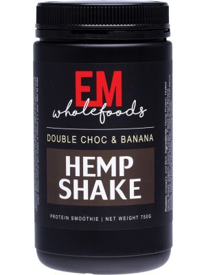 EM WHOLEFOODS Hemp Shake Double Choc & Banana 750g