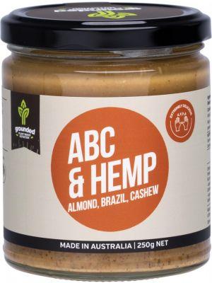 ESSENTIAL HEMP GROUNDED Natural Nut Butter Almond Brazil Cashew & Hemp 250g