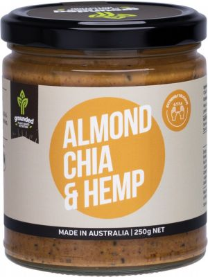 ESSENTIAL HEMP GROUNDED Natural Nut Butter Almond Chia & Hemp 250g