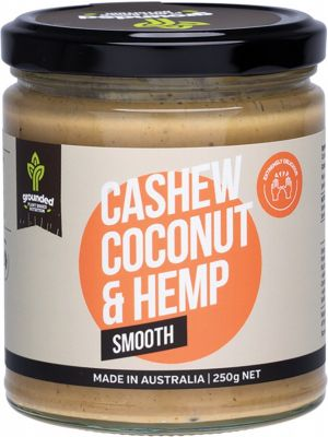 ESSENTIAL HEMP GROUNDED Natural Nut Butter Cashew Coconut - Smooth 250g