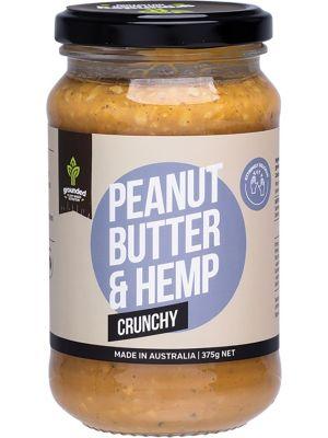 ESSENTIAL HEMP GROUNDED Natural Nut Butter Peanut Butter & Hemp Crunchy 375g