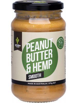 ESSENTIAL HEMP GROUNDED Natural Nut Butter Peanut Butter & Hemp Smooth 375g