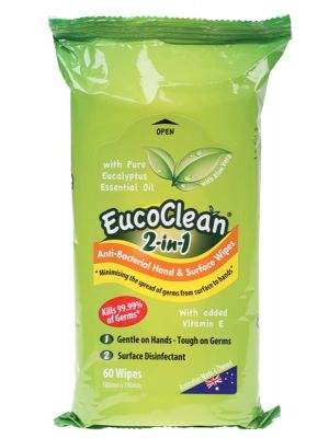 Eucoclean Antibacterial Wipes 60 pack