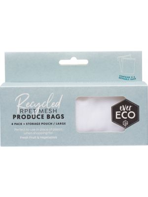 EVER ECO Reusable Fruit & Veg Bags 4 Pack + Storage Pouch 4