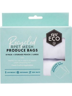 EVER ECO Reusable Fruit & Veg Bags 8 Pack + Storage Pouch 8