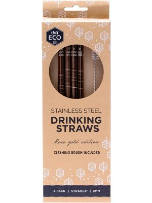 EVER ECO S/Steel Straws- Straight Rose Gold Edition 4